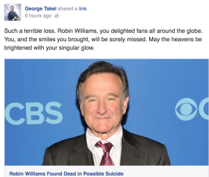 George Takei Robin Williams Tribute